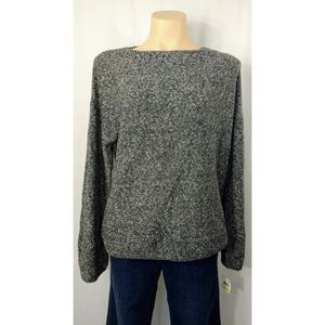 🆕Style&Co🚺 Grey/White Bell Sleeve Knit Sweater